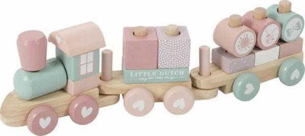 Little Dutch Blokkentrein Adventure Pink