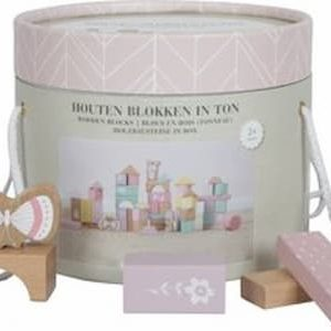 Little Dutch Houten Blokkenton Adventure pink